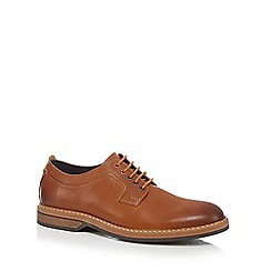 Clarks - Tan leather 'Pitney Walk' Derby shoes