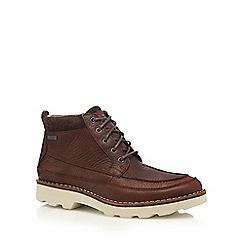 Clarks - Dark brown 'Korik Rise GTX' boots