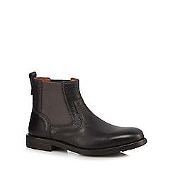 Clarks - Black 'Faulkner On' Chelsea boots