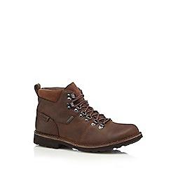 Clarks - Dark brown 'Lawes High GTX' boots