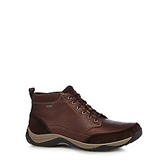 Clarks - Brown leather 'Baystone Top GTX' lace up boots