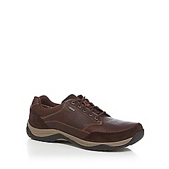 Clarks - Dark brown 'Baystonego GTX' lace up shoes