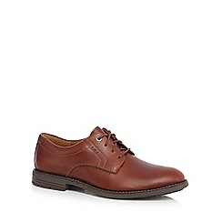 Clarks - Brown leather 'Unelott' Derby shoes