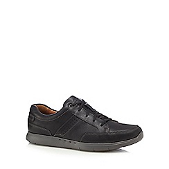 Clarks - Black 'Unlomac' lace up shoes
