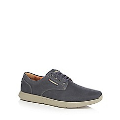 Clarks - Navy leather 'Unlomac Edge' trainers