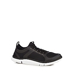 Clarks - Black 'Triken Active' casual lace-up trainers