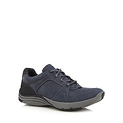 Clarks - Navy 'Wave Port' casual lace-up trainers
