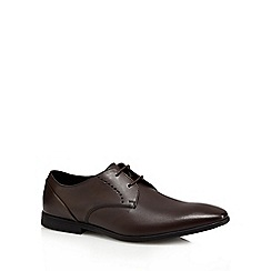 Clarks - Brown leather 'Brampton' Derby shoes