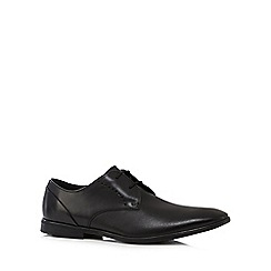 Clarks - Black leather 'Bampton Lace' Derby shoes