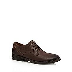 Clarks - Brown leather 'Devington Walk' lace up shoes