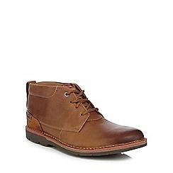 Clarks - Tan 'Edgewick' casual Chukka boots