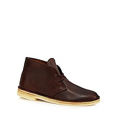 Clarks - Dark brown 'Desert' boots