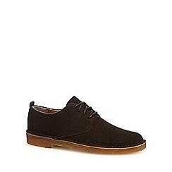 Clarks - Dark brown suede shoes
