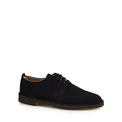 Clarks - Black 'Original Desert London' leather desert shoe