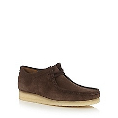 Clarks - Brown suede 'Wallabee' lace up shoes