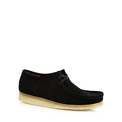 Clarks - Black 'Wallabee' suede shoes