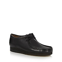 Clarks - Black leather wallabee lace up shoes