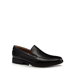 Clarks - Black 'Tilden Walk' tramline slip-on shoes