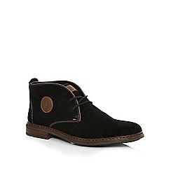 Rieker - Black logo applique Chukka boots