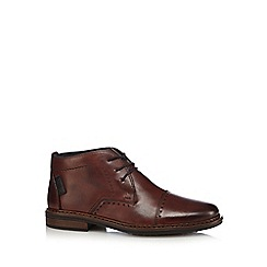 Rieker - Brown leather lace-up brogues