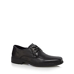 Rieker - Black leather lace up Derby shoes