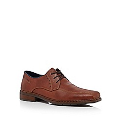 Rieker - Brown stitch detail Derby shoes