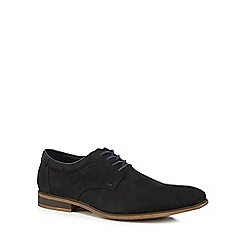 Rieker - Black suede derby lace-up shoes