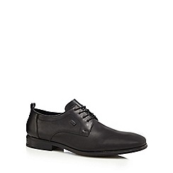 Rieker - Black leather Derby shoes