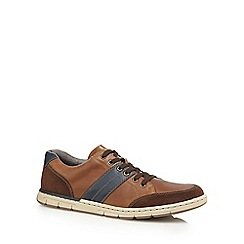 Rieker - Tan leather lace up trainers
