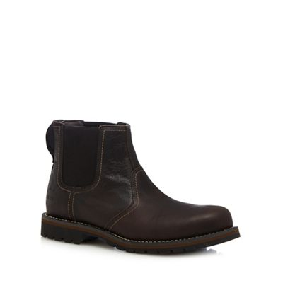 timberland brown leather larchmont chelsea boots debenhams