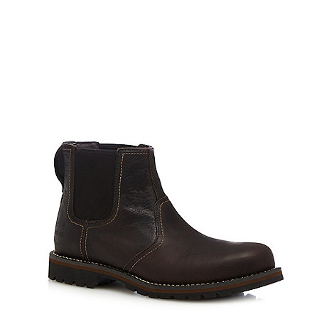 Timberland - Brown +Larchmont+ leather Chelsea boots