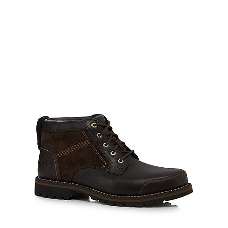 Timberland - Brown leather +Larchmont+ lace up boots