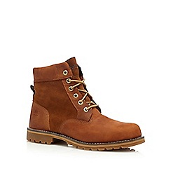 Timberland - Brown suede 'Larchmont' lace up boots