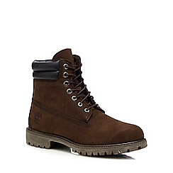Timberland - Brown suede lace up boots
