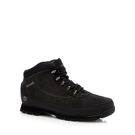 Timberland - Black suede +Eurobrook+ hiking boots