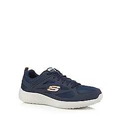 Skechers - Blue 'Burst' lace-up trainers