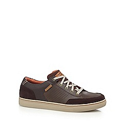 Skechers - Brown 'Elvino' leather trainers