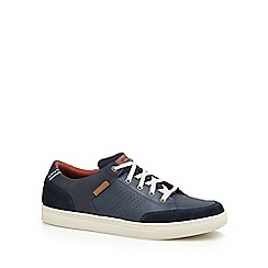 Skechers - Navy 'Elvino' leather trainers