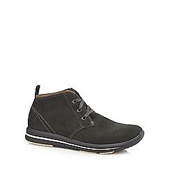 Skechers - Dark grey 'Doren' leather lace-up boots