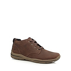 Skechers - Dark brown brown 'Harper' leather boots