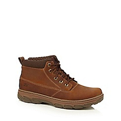 Skechers - Brown leather 'Resment' boots