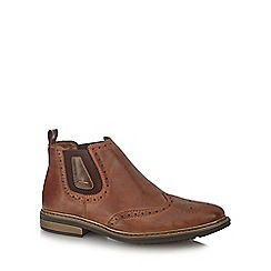 Rieker - Dark brown brogue Chelsea boots