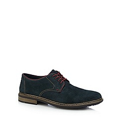 Rieker - Dark green suede Derby shoes