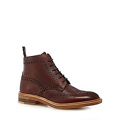 Loake - Dark red 'Oxblood' brogue boots