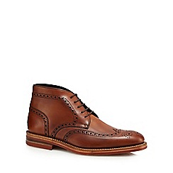 Loake - Brown 'Reading' brogue boots