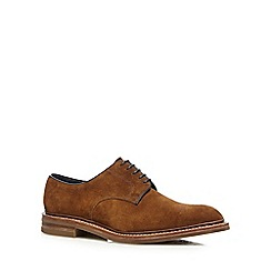 Loake - Tan suede 'Rowe' Derby shoes