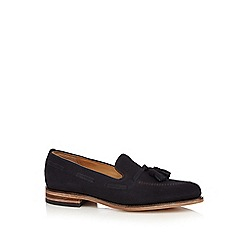 Loake - Navy suede loafers