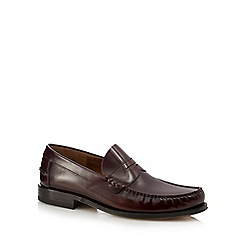 Loake - Dark red leather loafers