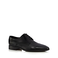 Loake - Black leather 'Doyle' Derby shoes