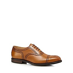 Loake - Tan leather 'Seaham' brogues